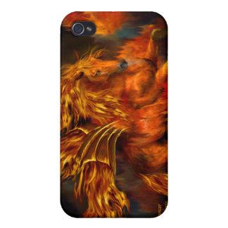 Caso del arte del bailarín del fuego para el iPhon iPhone 4/4S Funda