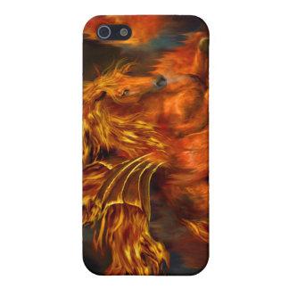 Caso del arte del bailarín del fuego para el iPhon iPhone 5 Fundas
