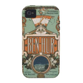 Caso del arte del vintage del hur de Ben Case-Mate iPhone 4 Funda