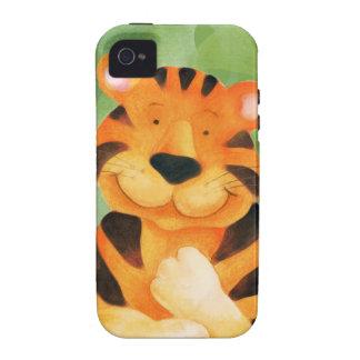Caso del arte iphone4S del tigre de los niños iPhone 4/4S Funda