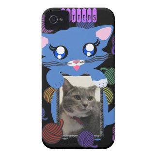 Caso del BB del marco de las manoplas del gatito Case-Mate iPhone 4 Cárcasa