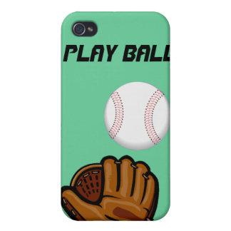Caso del béisbol de la bola del juego para el ipho iPhone 4 carcasa