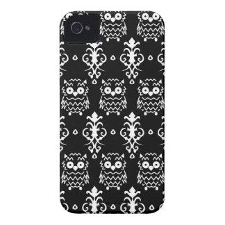 Caso del búho del Victorian Case-Mate iPhone 4 Coberturas