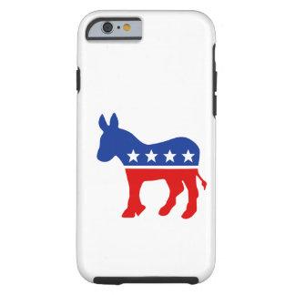 Caso del burro de Demócrata Funda De iPhone 6 Tough