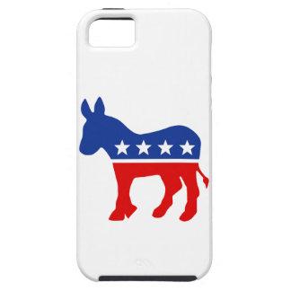 Caso del burro de Demócrata iPhone 5 Case-Mate Protectores