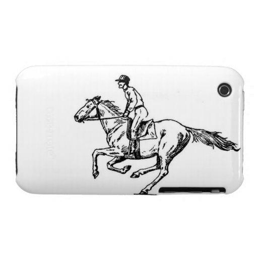 Caso del caballo de raza Case-Mate iPhone 3 protector