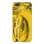 Caso del caballo del oro iPhone 5 cobertura