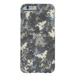 Caso del camo del caso del iPhone 6 del gris azul