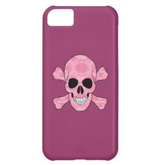 Caso del camuflaje del iPhone rosado 5 del cráneo
