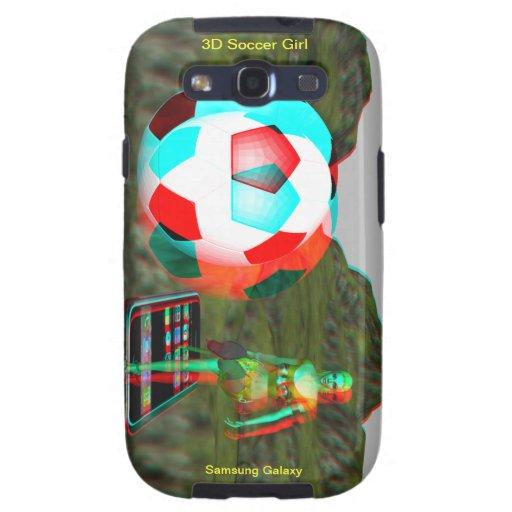 Caso del chica del fútbol de la galaxia 3D de Sams Samsung Galaxy SIII Funda