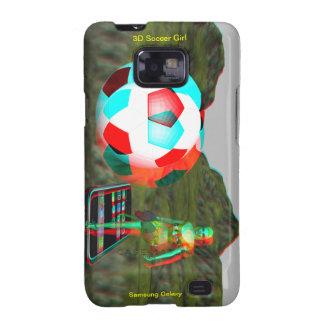 Caso del chica del fútbol de la galaxia S2 3D de S Galaxy S2 Carcasa