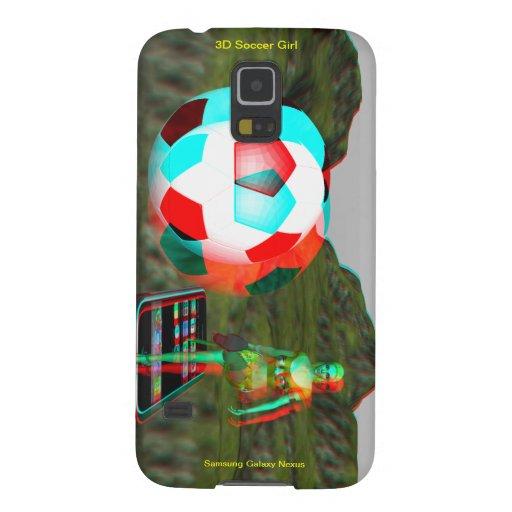 Caso del chica del fútbol del nexo 3D de la galaxi Carcasas Para Galaxy S5