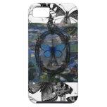 Caso del collage del arte de las mariposas de Parí iPhone 5 Protectores