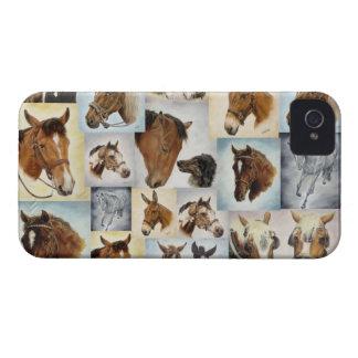 Caso del collage iPhone4/4S del caballo Carcasa Para iPhone 4 De Case-Mate
