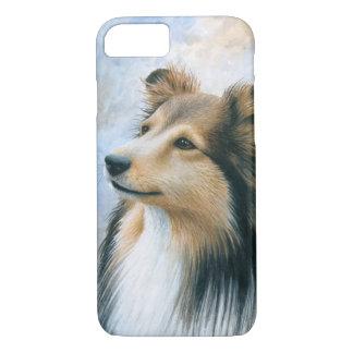 Caso del collie de Sheltie del perro 122 para el Funda iPhone 7