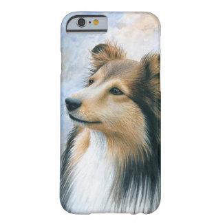 Caso del collie de Sheltie del perro 122 para Funda Barely There iPhone 6