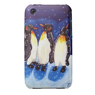 Caso del compañero del caso de 3 pingüinos iPhone 3 Case-Mate funda