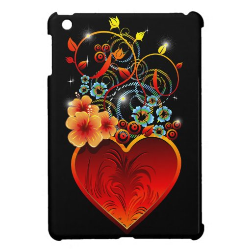 Caso del corazón de la tarjeta del día de San Vale iPad Mini Funda