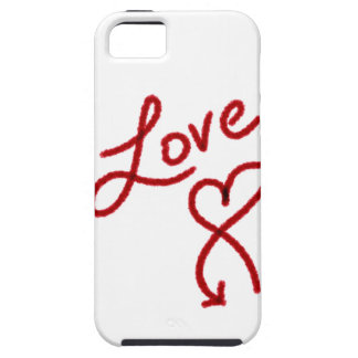Caso del corazón del amor del creyón iPhone 5 cárcasa