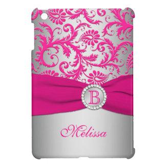 Caso del damasco del iPad rosado y de plata del mo iPad Mini Cárcasas