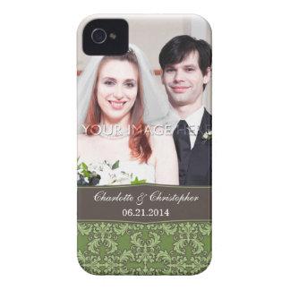 Caso del damasco del iPhone personalizado 4 de la iPhone 4 Fundas