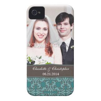 Caso del damasco del iPhone personalizado 4 de la Case-Mate iPhone 4 Fundas