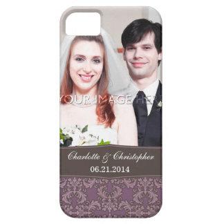 Caso del damasco del iPhone personalizado 5 de la iPhone 5 Case-Mate Cárcasa