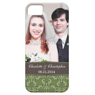 Caso del damasco del iPhone personalizado 5 de la iPhone 5 Case-Mate Carcasa