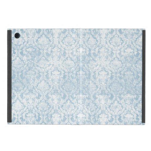 caso del damasco del vintage mini del ipad azul de iPad mini fundas