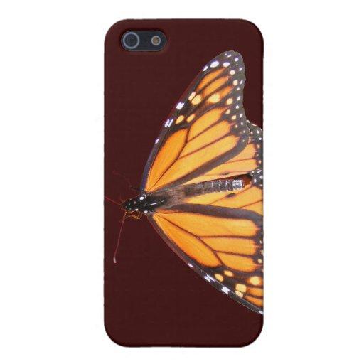 Caso del ~ de la mariposa de monarca iPhone 5 fundas