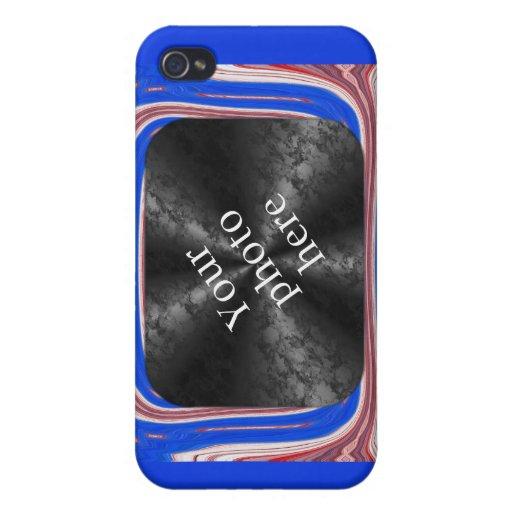 Caso del ~ de la plantilla del patriota iPhone 4/4S carcasa