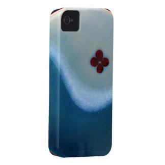 Caso del del flor del océano iPhone 4 carcasa