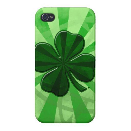 Caso del día iphone5 de los patricks del st del tr iPhone 4/4S carcasa