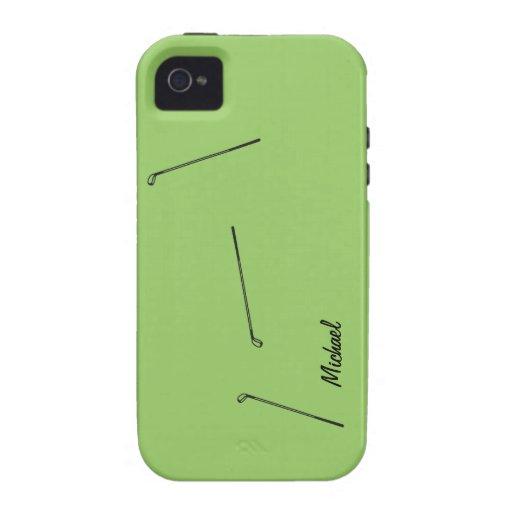 Caso del diseño Iphone5 del golf Vibe iPhone 4 Carcasas