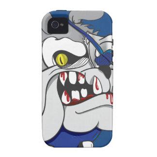 Caso del dogo iphone4 del zombi del pirata vibe iPhone 4 carcasa
