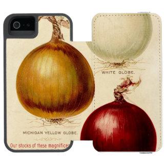 Caso del ejemplo de la carta de la cebolla del funda billetera para iPhone 5 watson
