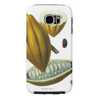 Caso del ejemplo del vintage del grano de cacao funda samsung galaxy s6