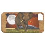 Caso del elefante africano y del teléfono celular  iPhone 5 Case-Mate cobertura