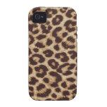 Caso del estampado de animales del leopardo iPhone 4 carcasas