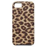 Caso del estampado de animales del leopardo iPhone 5 funda