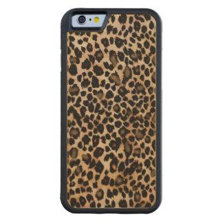 Caso del estampado de animales del leopardo funda de iPhone 6 bumper arce