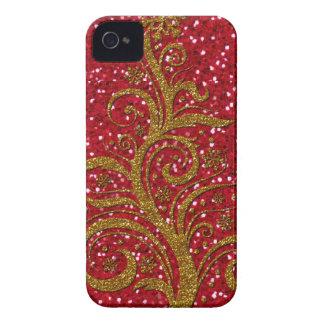 Caso del estilo 1-iPhone 4/4s del árbol de Swirly Case-Mate iPhone 4 Protectores