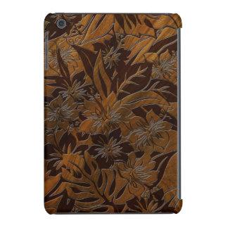 Caso del falso iPad de madera del hibisco de la Funda Para iPad Mini Retina