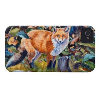 Caso del Fox rojo Blackberry iPhone 4 Case-Mate Coberturas