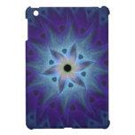 Caso del fractal de la flor de la turquesa para el iPad mini protectores