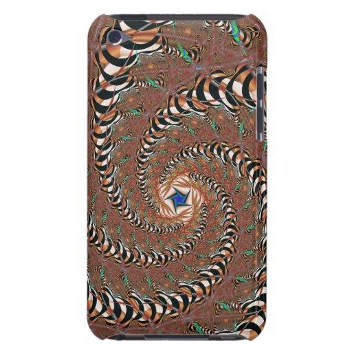 Caso del fractal de Tigerstripe para el tacto de Barely There iPod Funda