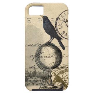 Caso del francés de París del globo del cuervo iPhone 5 Funda