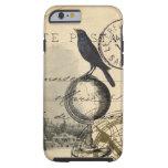 Caso del francés de París del globo del cuervo Funda De iPhone 6 Tough
