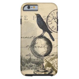 Caso del francés de París del globo del cuervo Funda Para iPhone 6 Tough