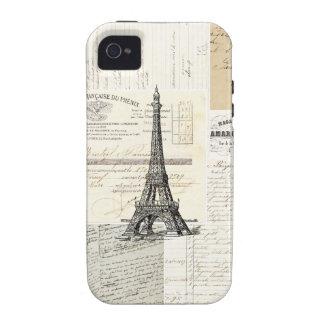 Caso del francés de París del vintage Vibe iPhone 4 Carcasas
